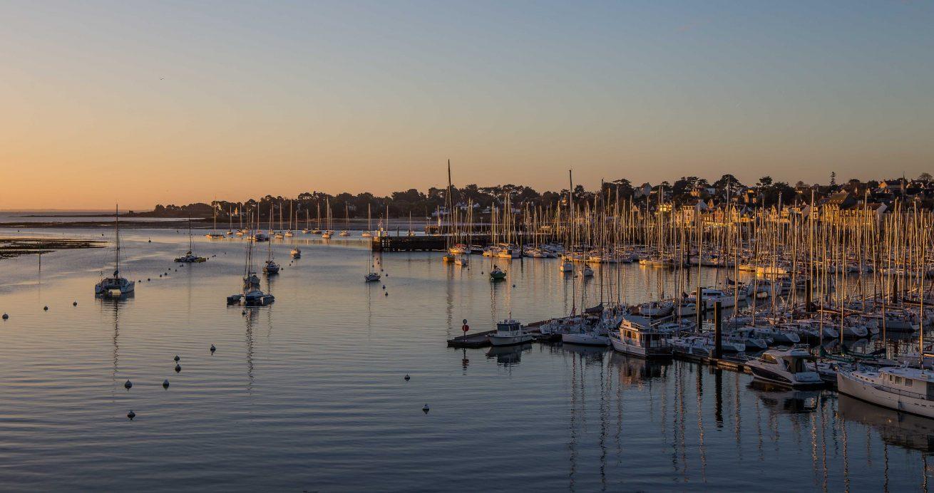 paysage port la trinite sur mer soir